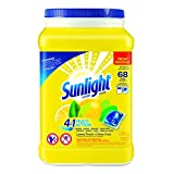 Sunlight 4-in-1 Laundry Single Dose Multi-Action Lemon Fresh 68-Count