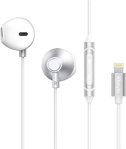 Headphones for iPhone, Ebeylo HiFi Stereo Earbuds for iPhone 11 Pro, iPhone X XS Max XR, iPhone 8 8 Plus, iPhone 7 7 Plus, iPad, iPod W Mic