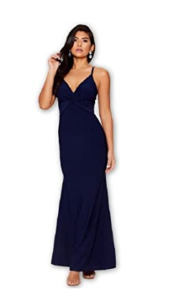 db0824e9975 Quiz EX Navy Knot Front Fishtail Maxi Dress Brand New RRP £34.99 UK 6-16   Amazon.co.uk  Clothing