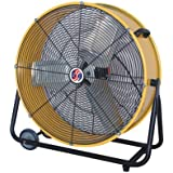 Q Standard Classic Cooler Drum Fan - 24in., 1/3 HP, 7,700 CFM, Model# 10289