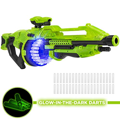 Best Choice Products Electric Powered Foam Dart Alien Blaster Toy w/ 40 Glow-in-The-Dark Darts, Drum Magazine, 45ft Max Range reviews