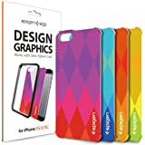 iPhone 5S Case, Spigen® [Ultra Hybrid Design Graphic] Interchangeable Graphic Skins [Diamond] Customizable Clear Back Panel for ULTRA HYBRID Series Case ***Case not included*** - Diamond (SGP10580)