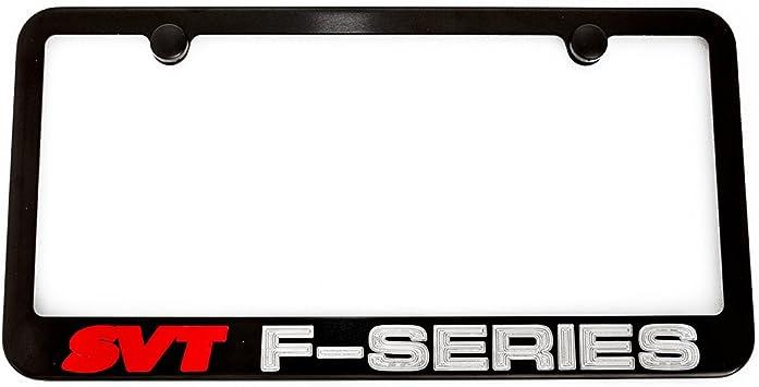 Silver Logo Made in USA Ford Raptor SVT Satin Black License Plate Frame