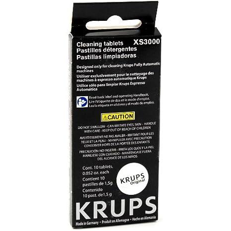 Amazon.com: Krups 10 Tableta Pack de limpieza para máquinas ...