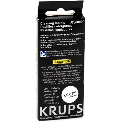 Krups 10 Cleaning Tablet Pack for Compact Fully Automatic Espresso Machines, Set of 6 by KRUPS