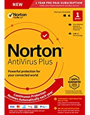 NEW Norton AntiVirus Plus – Antivirus software for 1 Device with Auto-Renewal - Includes Password Manager, Smart Firewall and PC Cloud Backup