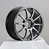 4 PCS ROTA G FORCE WHEELS 18X9 PCD:5x114.3 OFFSET:30 HB:73 HYPER BLACK