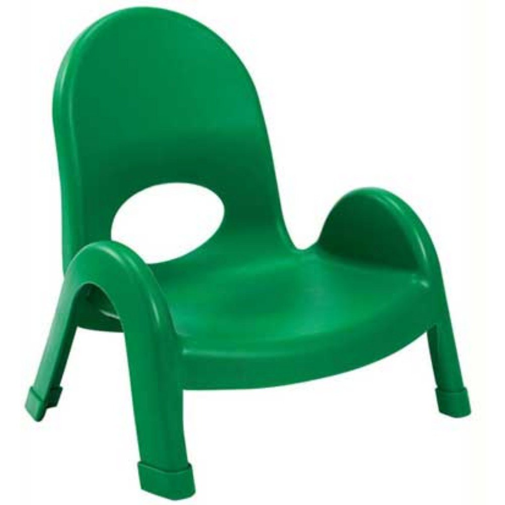Angeles Value Kids Home Preshool Daycare Classroom Stack Chair 5'' Shamrock Green