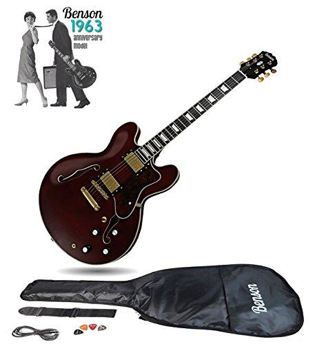Benson ES 350 Double cutaway semi-acoustic hollow body electric guitar...