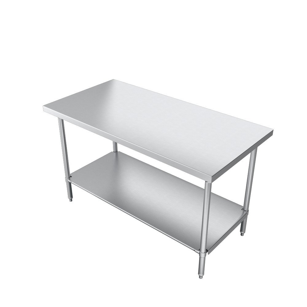 Elkay Commercial Grade NSF Stainless Steel Table with Adjustable Height Feet and Undershelf, 36'' x 24'' by Elkay Foodservice (Image #6)