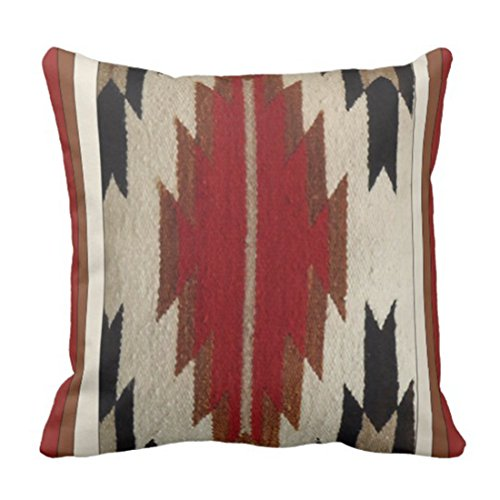 Emvency Throw Pillow Cover Colorful Patterns 1 Tribal Native American Red Indian Decorative Pillow Case Home Decor Square 16 x 16 Inch Pillowcase