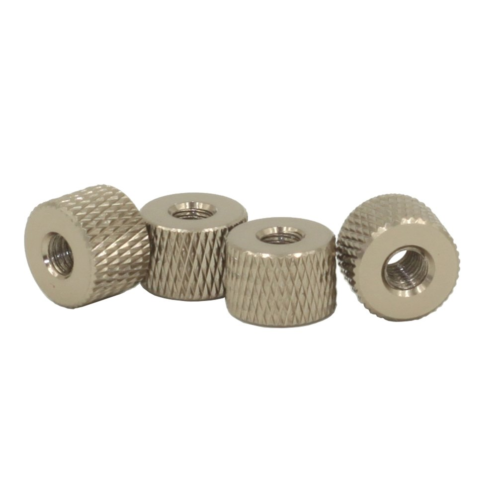 M4 Knurled Nuts, Thumb Nuts, Aluminum Alloy, 10 Pieces, Dark Grey HZSTONE