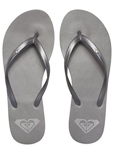Roxy Womens Bermuda Sandal Flip Flop Flip Flop, Silver 1 -6057
