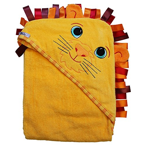 """Extra Large 40""""x30"""" Velour Hooded Towel, Lion, Frenchie Mini Couture"""