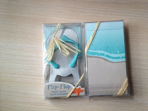 Qishi's Special''pop the Top'' Flip-flop Bottle Opener for Wedding Favors (72) by Qishi