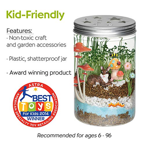 Large Product Image of Creativity for Kids Grow 'n Glow Terrarium - Science Kit for Kids