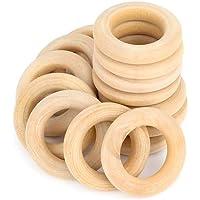 RUBY - Aros de madera natural para manualidades