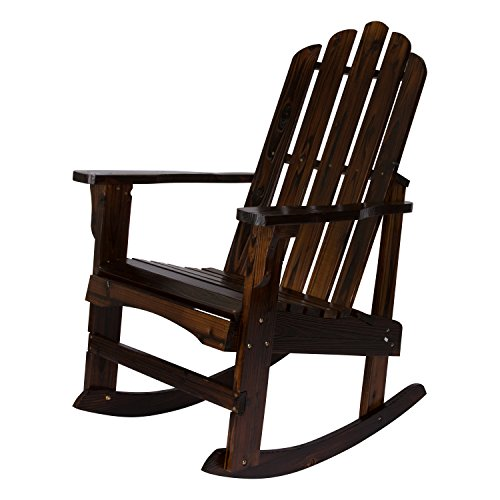 Shine Company Marina Porch Rocker, Burnt Brown