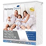 HarmonyDream Cal King Size Mattress Protector - Waterproof Hypoallergenic Cover - Non Vinyl