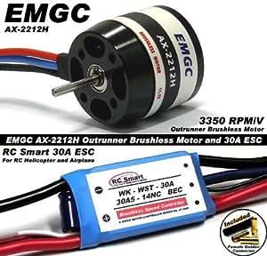 EMGC RC Model 3350 Outrunner Brushless Motor & 30A ESC Speed Controller CA036