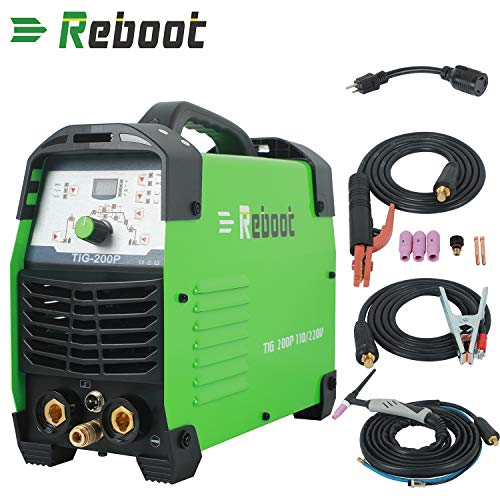 REBOOT TIG Welder 200A TIG Pulse DC 110/220V Digital Inverter Welding Machine Dual Volts MMA Welding Machine IGBT ARC Stick TIG