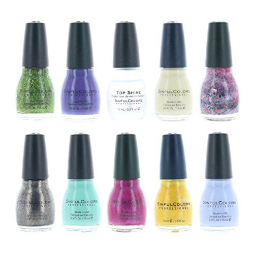 Sinful Colors Finger Nail Polish Color Lacquer Set 10-Piece Collection #42 ()