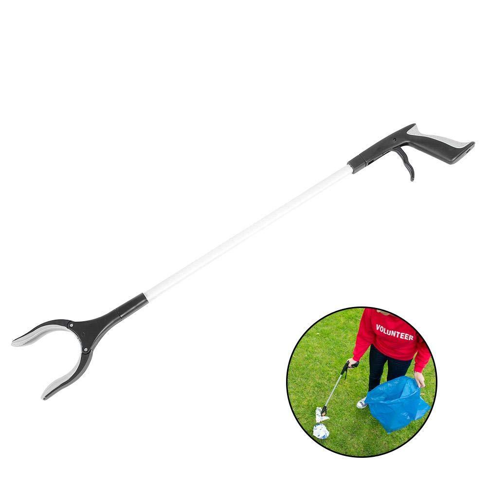 Semme Grabber Reacher, Litter Picker Rostbeständig Leichter 90 ° Drehgreifer Langer Arm Handhilfswerkzeug (32,5inch Länge)