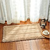 Cotton bathroom water-absorbing mats household mats non-slip door mat bathroom mat -5080cm c