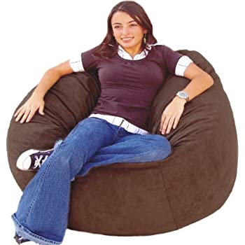Amazoncom Cozy Sack Feet Bean Bag Chair Large Chocolate - Cozy chill bag