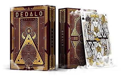 Amazon.com: Dedalo Omega Juego de cartas poker Tamaño Deck ...