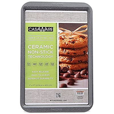 "CasaWare Ceramic Coated NonStick Cookie/Jelly Roll Pan 11""x17"""