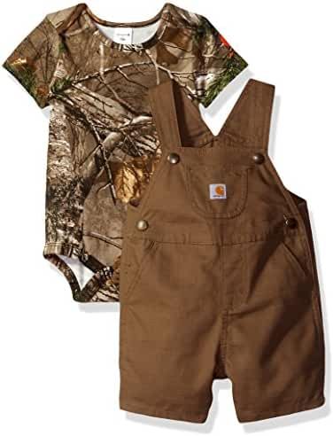 Carhartt Baby Boys' Short Sleeve Shortall