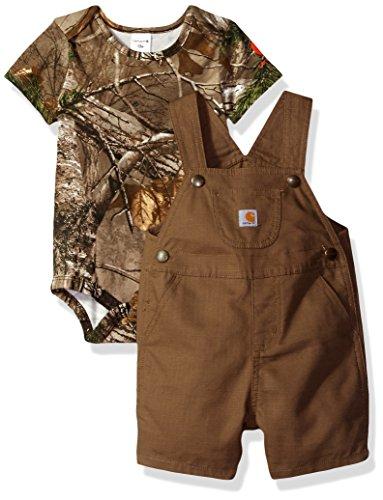 Carhartt Baby Boys' Short Sleeve Shortall, Canyon Brown, 9M