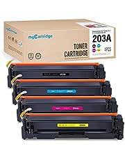 Mycartridge Compatible HP 203A cf540A Toner Cartridges for HP Color Laserjet Pro mfp M281fdw M254nw MFP M281fdn MFP M280nw M254dw (Black/Cyan/Magenta/Yellow)