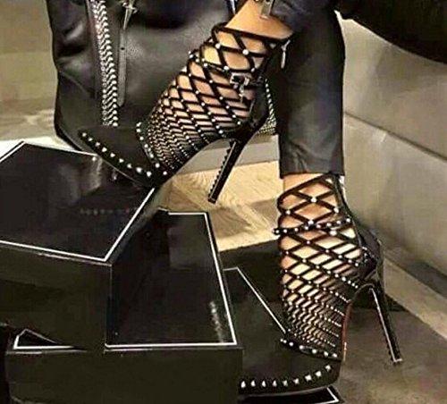 Neuer stil ausgehöhlten hochhackigen schuhe mit hohen absätzen und coolen coolen coolen Stiefel d36278