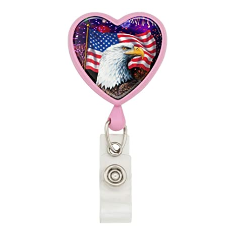 Firework 4th of July Retractable Badge Reel