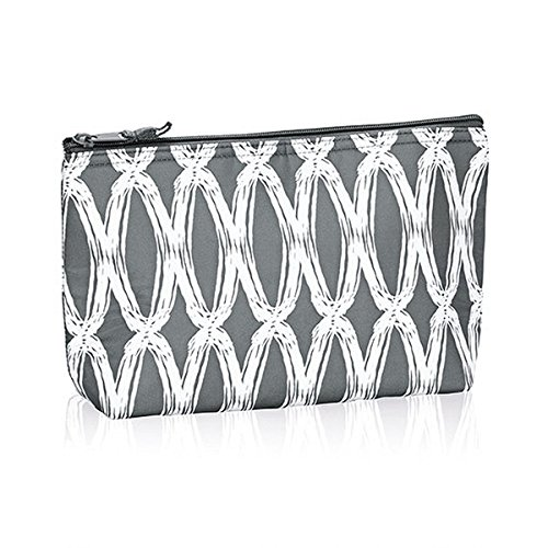 Thirty One Medium Thermal Zipper Pouch in Charcoal Links - N