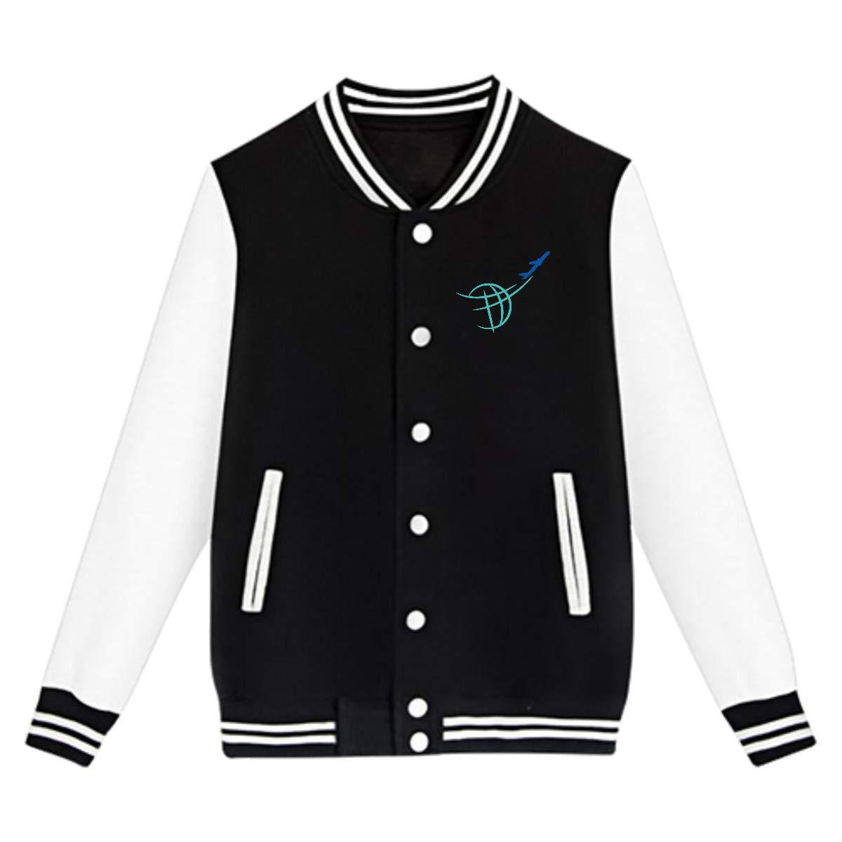 NJKM5MJ Unisex Youth Baseball Uniform Jacket Airline Clipart Coat Sport Outfit