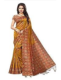CRAFTSTRIBE Art Silk Bollywood Wedding Dress Saree Indian Traditional Printed Party Wear Sari Women Clothing