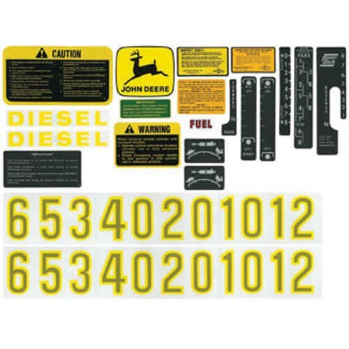 Decal Set John Deere 4020 3020 4000 4010 3010 4320 2520 2510 4520 4620 5020 6030 5010 AR34177 AR47091 AR52393