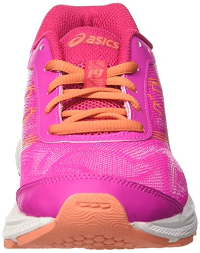 Asics Gel-Nimbus 19 Gs, Zapatillas de Gimnasia Unisex Niños Varios colores (Pink Glow /             Coral Pink /             Pale Pink)