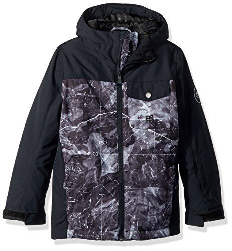 Quiksilver Boys' Big Mission Block Youth 10k Snow Jacket, Black TANNENBAUM, ()