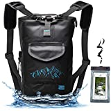 Luck route Waterproof Dry Bag Backpack Straps Smart Pockets - Floating DryBag Storage Beach - Sack Kayaking Boating Camping Fishing Gifts - Black 20L