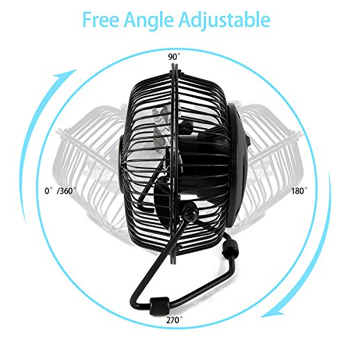 Small Aluminum Fan Blades : Mini office fan glamouric usb small metal quiet