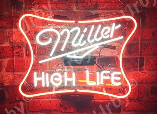 iller High Life Neon Sign Acrylic Panel Beer Bar Pub Man Cave Business Glass Neon Lamp Light FE03 ()