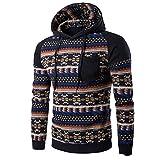 Men Sweatshirt ,Leegor Bohemia Retro Hooded Geometric Printed Tops Jacket Coat