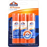 Elmer's All-Purpose Glue Sticks, Large, 0.77 oz Each, 3 Sticks per Pack (E5022)