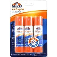 Elmer's All-Purpose Glue Sticks, Large, 0.77 oz Each, 3 Sticks per Pack (E5022)