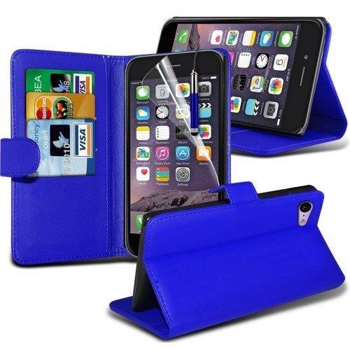 Apple iPhone 6S Plus Cubierta del caso con cuero (Azul) Plus de regalo libre, Protector de pantalla y un lápiz óptico, Solicitar ahora mejor caja del teléfono Valorado en Amazon! By FinestPhoneCases