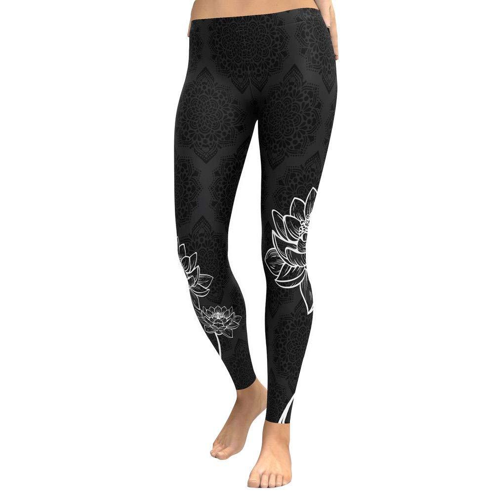 Modaworld /_Leggins Mujer Yoga Mallas Deportivo Leggings de yoga para mujer Entrenamiento Gimnasio Leggings Fitness Correr Pantalones deportivos Pantal/ón el/ástico